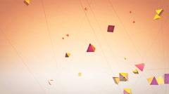 Flying geometrical shapes Stock Footage