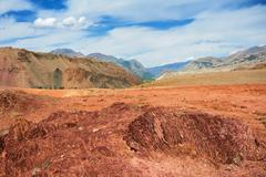Red mountains, altai mountains, russia Stock Photos