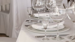 Served table Stock Footage