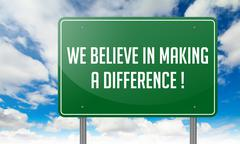 Stock Illustration of We Believe in Making a Difference.
