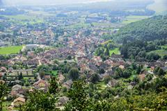 small town in the french alps - stock photo