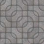 Stock Illustration of Grey Figured Granulated Pavement Slabs.