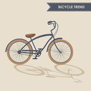 Trendy bike - stock illustration