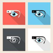 Google glasses icon set Piirros