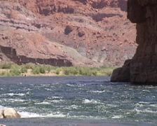 Bend in Colorado River at Lees Ferry Stock Footage