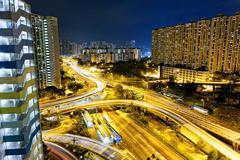 Stock Photo of hong kong traffic night