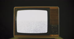 Death of anologue TV 4K - stock footage