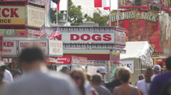 Corn Dog Stand at the County Fair at the 240 fps Stock Footage