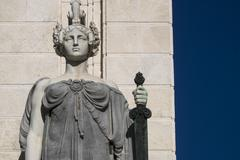 Statue on monument to Constitution of 1812 Stock Photos
