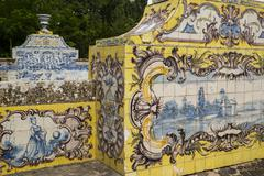 Azulejos on Queluz National Palace - stock photo