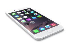 Apple silver iphone 6 - stock illustration