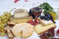 Stock Photo of french cheese platter