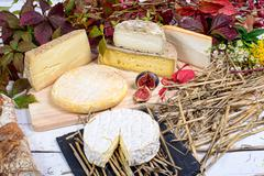 french cheese platter - stock photo