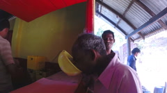 People refreshing themselves with sri lankan coconut wine called arrack. Stock Footage