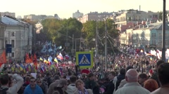 Peace March in Moscow Stock Footage