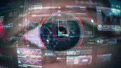 Eye Of Cyborg Stock Footage