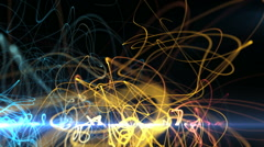 Creative colorful curves move Stock Footage