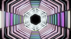 Hi-Tech Looped Light Tunnel animation Stock Footage