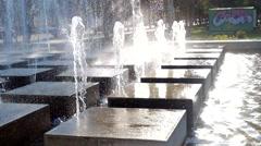Courtyard Fountain. Modern fountain in a park - stock footage