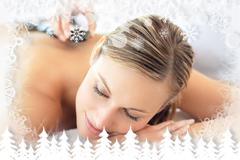 Stock Illustration of Attractive woman having a massage