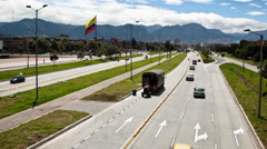 Timelapse of El Dorado Avenue in Bogota, Colombia Stock Footage