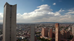 Rooftop timelapse of the International Centre in East-Central Bogota Stock Footage