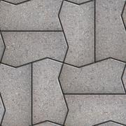 Gray Figured Pavement  Slabs. Stock Illustration