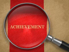 Stock Illustration of Achievement through Magnifying Glass.