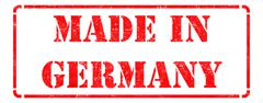 Made in Germany on Red Stamp. - stock illustration