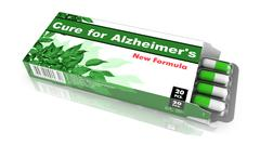 Cure for Alzheimers - Pack of Pills. - stock illustration