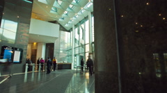 Motion timelapse of the lobby of the Colombian Stock Market (BVC) Headquarters Stock Footage