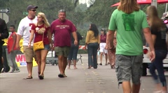 People-15, crowds, ethnically mixed group walking Stock Footage