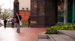 Timelapse of the entrance to the Colombian Stock Market Headquarters Stock Footage