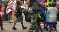 People-20, African American women & children Stock Footage