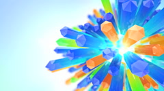 Blooming mineral crystal Stock Footage