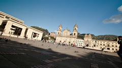 Daytime Timelapse of Bolivar Square, Bogota, Colombia Stock Footage