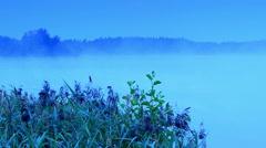 Sunrise on the lake Moiseevskoe, Valdaysky district, Novgorod region, Russia Stock Footage