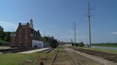 Vicksburg Mississippi Historic Old Train Depot Stock Footage