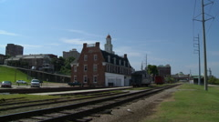 Old Train Depot in Vicksburg, Mississippi. Stock Footage