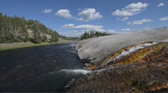 Stock Video Footage of firehole river yellowstone national park