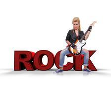 Rocker girl Stock Illustration