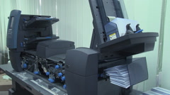 Packing machines for envelopes Stock Footage