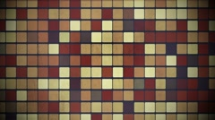 Brown blinking squares Stock Footage
