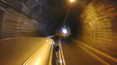 Vehicle driving through tunnel in Sri Lanka. - stock footage