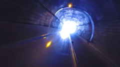 Vehicle driving through tunnel in Sri Lanka. - stock footage