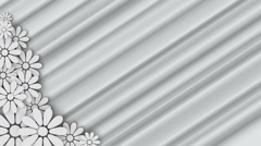 Wedding floral background with place for text Stock Footage