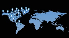 Growth man population in world Stock Footage