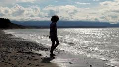 Dungeness Spit Play Day Stock Footage