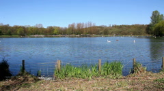 Moses Gate Country Park lake general wide shot Stock Footage