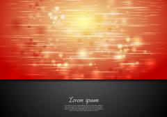 Red shiny sparks vector background - stock illustration